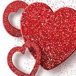3 Red Hearts with a white background