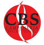Campeneria logo with a red background and black words
